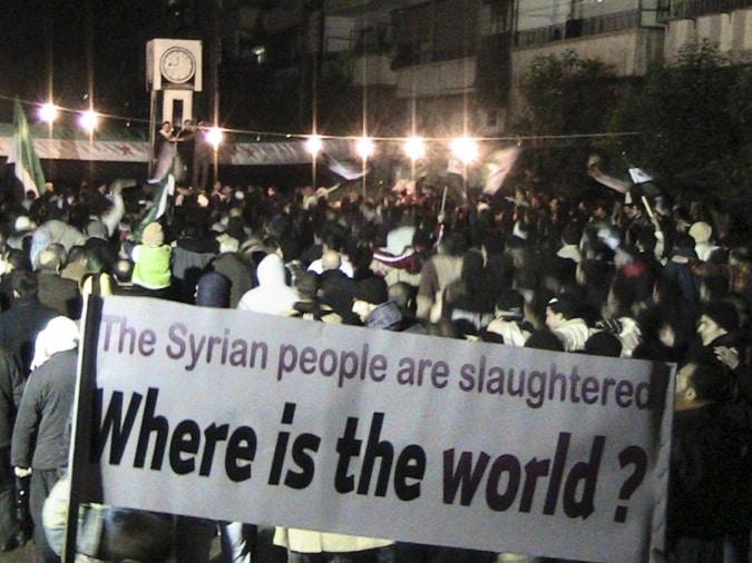 Das syrische Volk wird geschlachtet! Wo ist die Welt?
