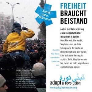 """Syrien-Aufruf """"Freiheit braucht Beistand"""""""