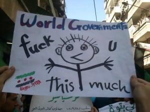 AktivistInnen in Aleppo beklagen sich über die Passivität der internationalen Gemeinschaft.