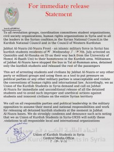Dschihadisten Statement von Studierenden
