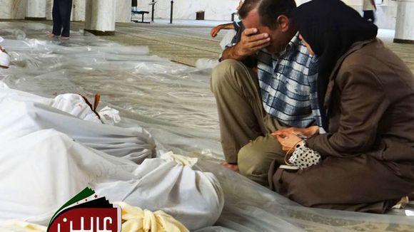 Opfer des Chemiewaffenangriffs in Syrien am 21. August 2013