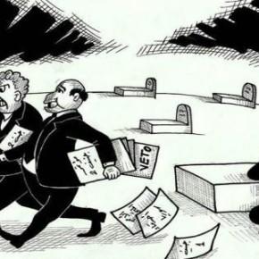 """""""Genf II"""" des Künstlers Husam al-Saadi. Quelle: Facebookseite des Künstlers."""