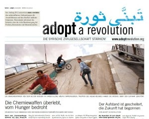 Die Adopt a Revolution-Zeitung
