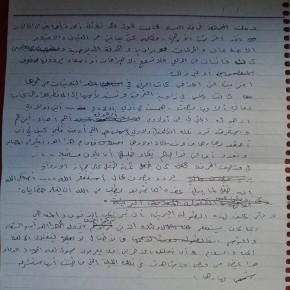 Seite 2 der handschriftlichen Aufzeichnungen.