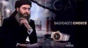 """ISIS-Spott: """"Baghdadis Wahl: Omega erhältlich in allen ISIS-Läden in Syrien und Irak"""" (c) @Al_Khateeb"""