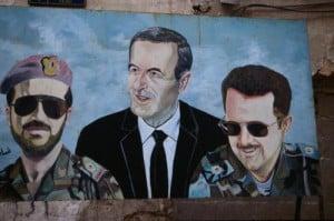 """Die """"Dreifaltigkeit"""": Bassel, Hafez und Bashar al-Assad {c} qifanabki.com"""