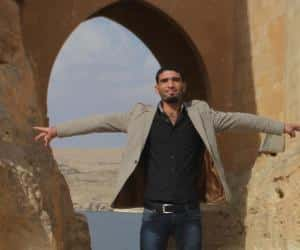 Der syrische Aktivist Fayez - hier ein Foto lange vor seiner Flucht aus Syrien.