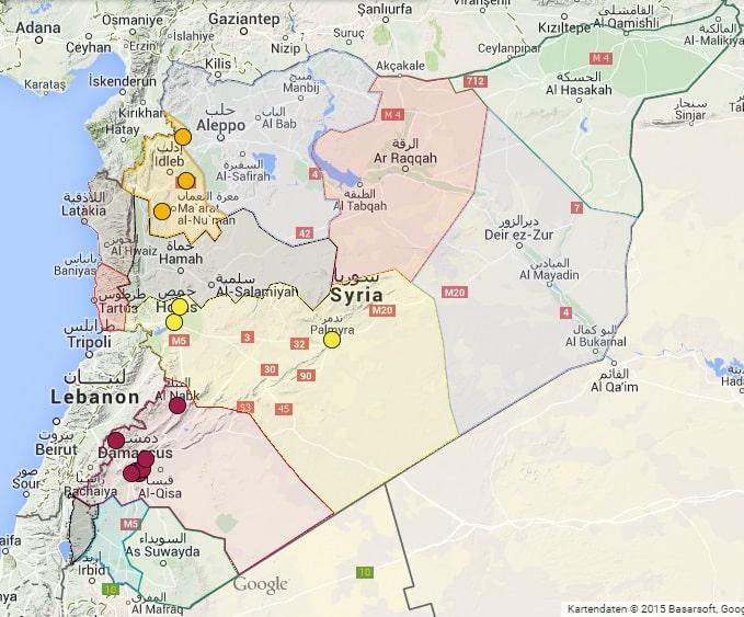 Syrien Karte Mit Städten.Wo Ist Eigentlich Kafr Nabl Adopt A Revolution