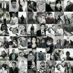 Fotos von Menschen, die beim Terrorangriff ums Leben gekommen sind.