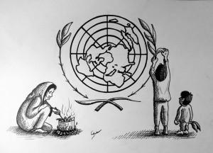 Hilfslieferungen der UN erreichen belagerte Gebiete in Syrien selten.