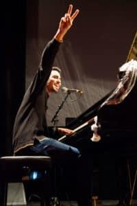 Ayham Ahmad während seines Konzerts. Foto: Anja Pietsch