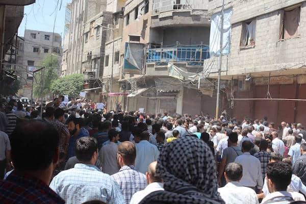 Proteste in Erbin
