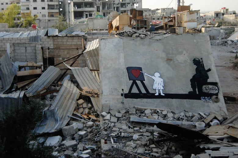 Graffiti in Daraya. Foto: Lokales Medienzentrum