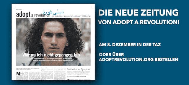 Die 6. Zeitung von Adopt a Revolution ist erschienen!