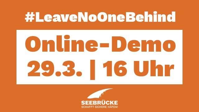Online-Demo: #LeaveNooneBehind