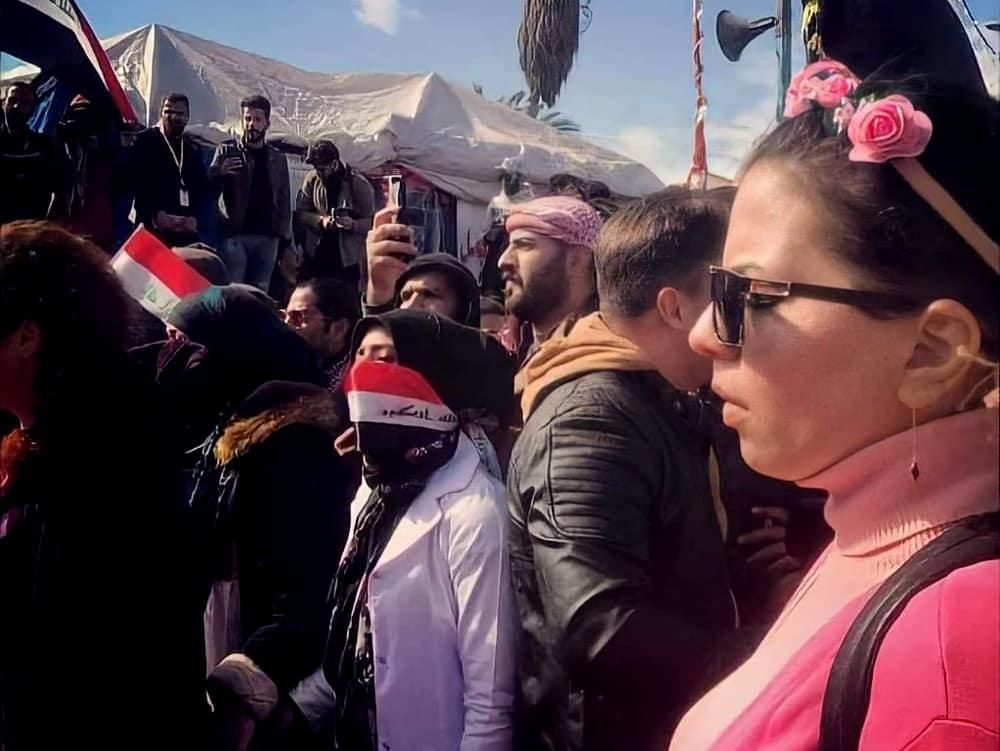 Enas auf einer Demonstration im Irak