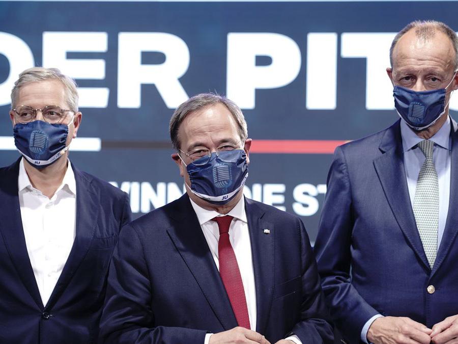 Die drei Kandidaten um den CDU-Vorsitz: Röttgen, Laschen, Merz